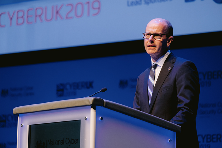 GCHQ director Jeremy Fleming at CYBERUK 2019