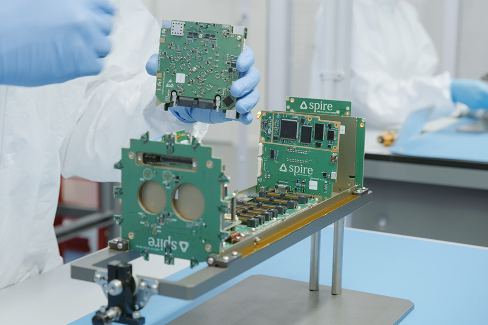 The nanosatellites were built by Spire Global UK