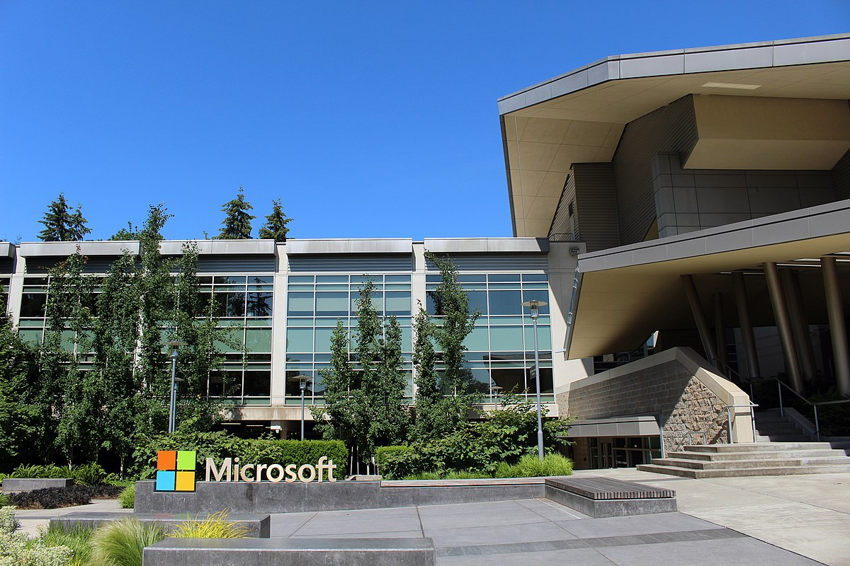 Microsoft headquarters in Redmond, Washington, US.