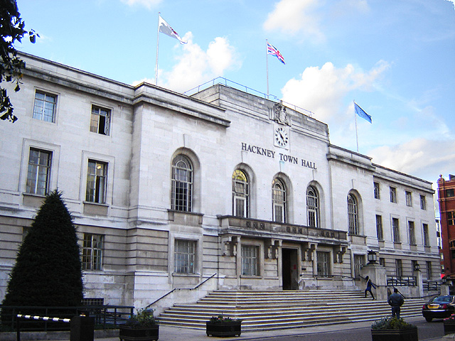 The Hackney town hall in London.