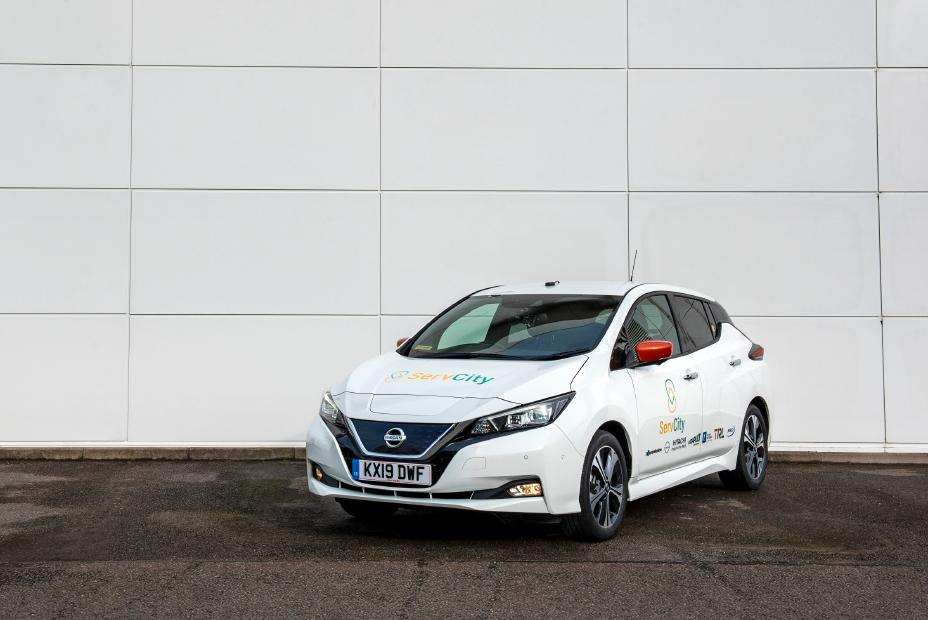 The Nissan Leaf car will be used in the ServCity project.