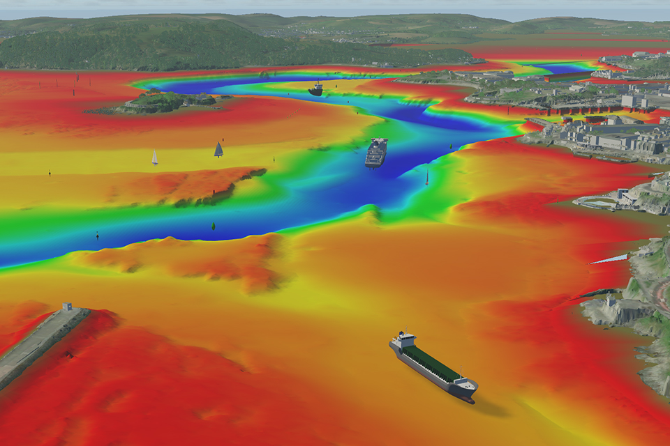 Simulation of the navigation of an autonomous ship in the Plymouth Sound by BMT.