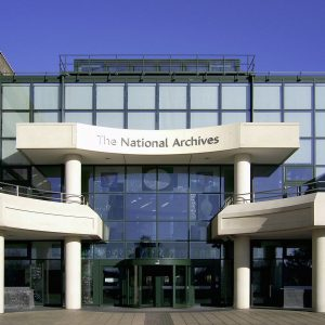The National Archives building at Kew, Richmond, Greater London
